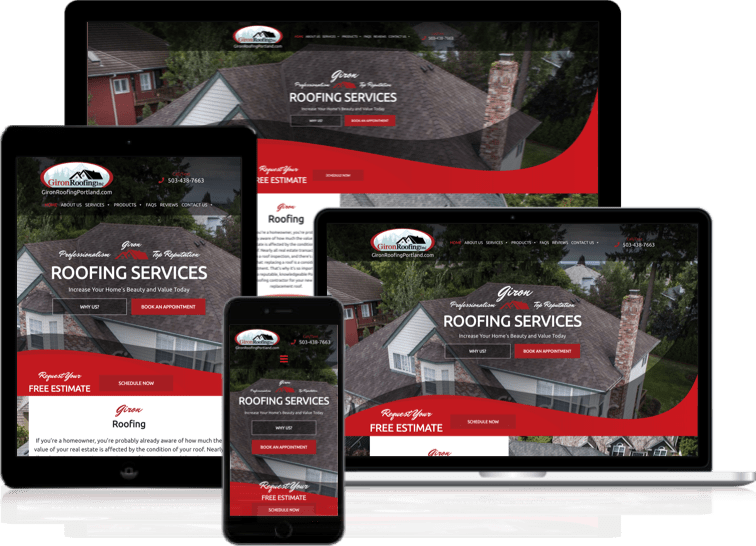 Giron Roofing Web Design