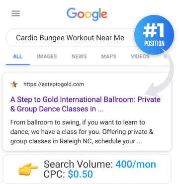 raleigh cardio bungee workout near me
