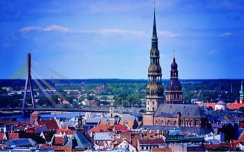 Riga Landscape On The Map Marketing