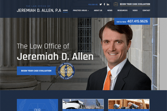 The Law Office of Jeremiah D. Allen Web Design