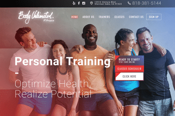 Body Unlimited Fitness Web Design