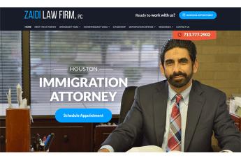 Zaidi Law Firm Web Design