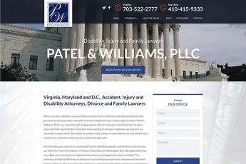 Patel & Williams, PLLC Web Design
