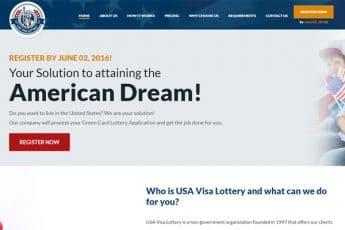 USA Visa Lottery Web Design