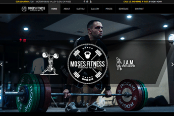 Moses Fitness Web Design