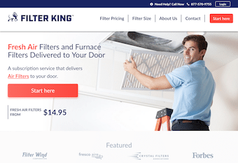 Filter King Website