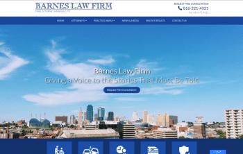 Barnes Law Firm  Web Design