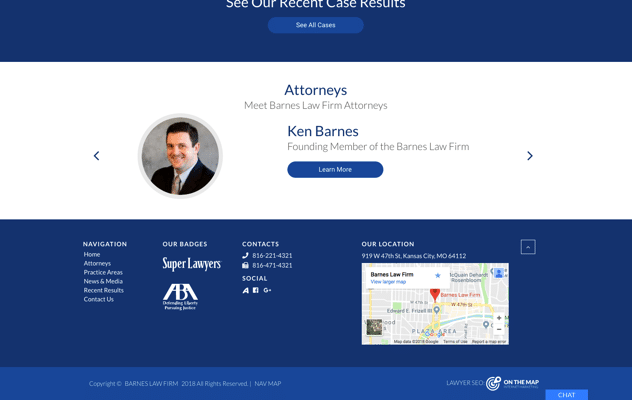 Barnes Law Firm | On The Map, Inc