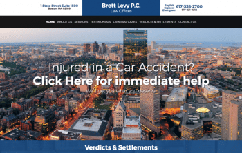 Law Offices of Brett Levy PC Web Design