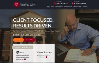 Jason G. Smith Law Web Design