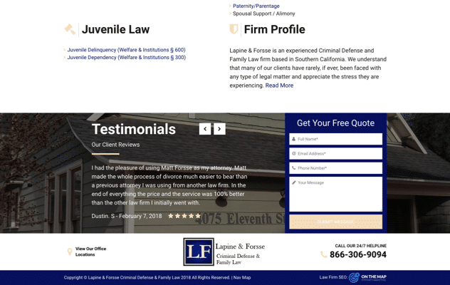 Lapine & Forsse Criminal Defense & Family Law
