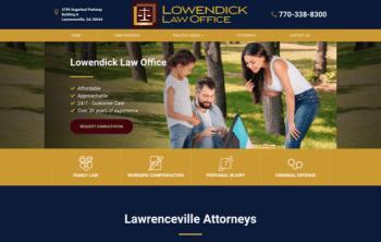 Lowendick Law Office  Web Design