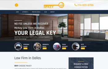 McKey Law Firm Web Design