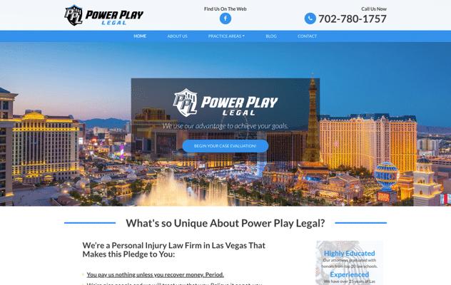 Power Play Legal Web Design