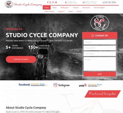 Studio Cycle Co. Web Design