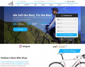 Pedalers West Web Design