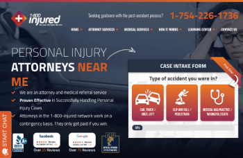 1800 Injured Web Design