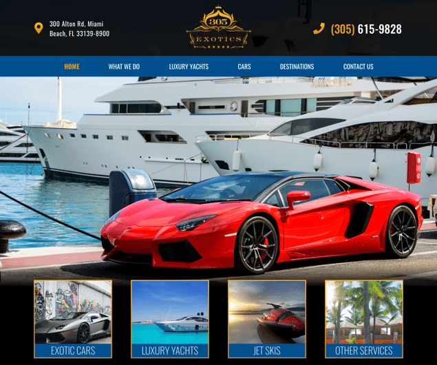 305 Yacht Rental