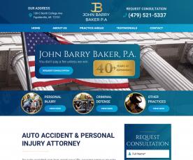 John Barry Baker, P.A. Web Design