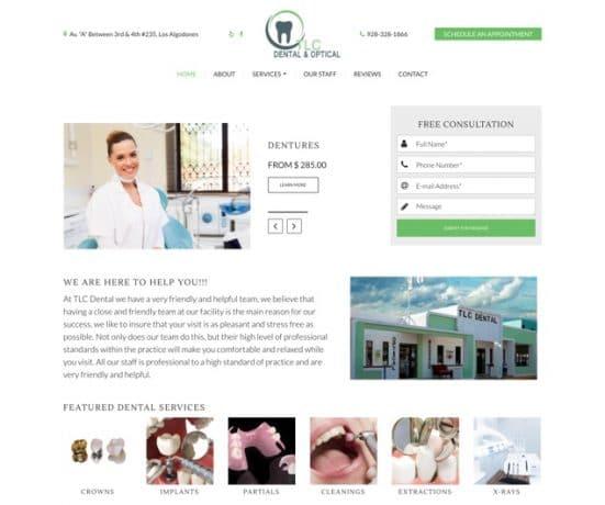 Affordable TLC Dental Website