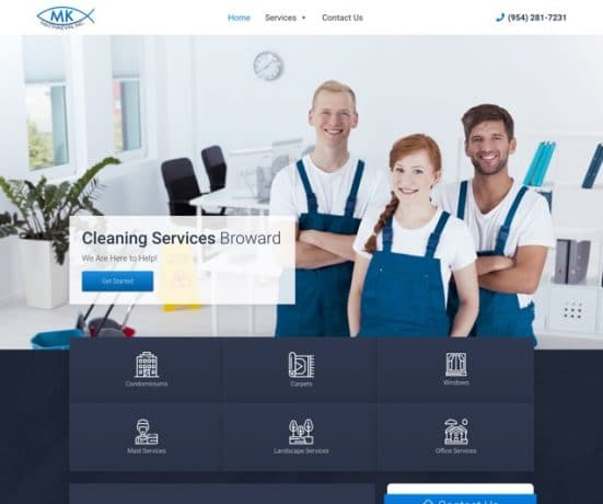 Cleaning Service Broward Website