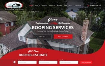 Giron Roofing Services Web Design