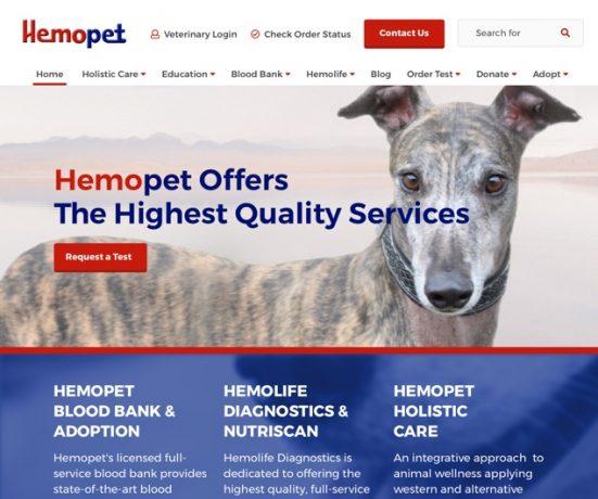 Hemopet Web Design