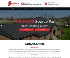 Indiana Metal Web Design