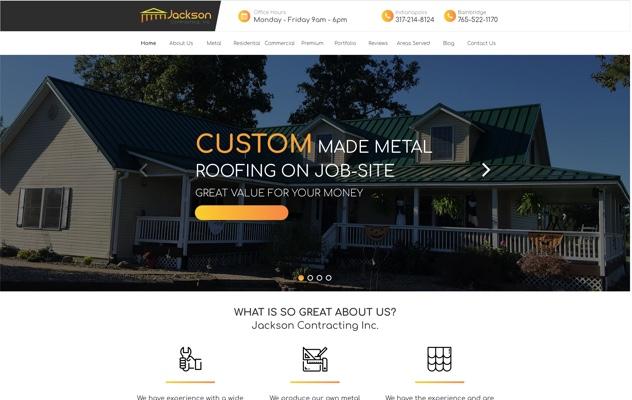 Jackson Contracting Inc. Web Design