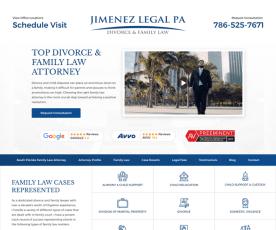 Jimenez Legal PA: Divorce Lawyer Miami  Web Design