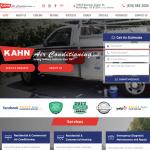 Kahn Air Conditioning Website