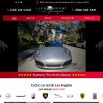 Lion Heart Lifestyle: Exotic Car Rental Los Angeles Website