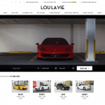 Lou La Vie: Exotic & Luxury Car Rental Miami Website