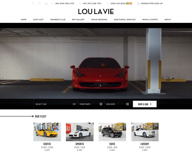 Lou La Vie: Exotic & Luxury Car Rental Miami