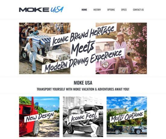 Moke USA Web Design