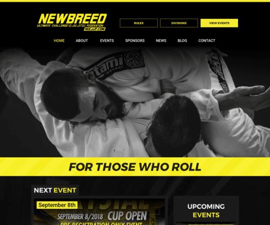 NEWBREED Ultimate Challenge Website