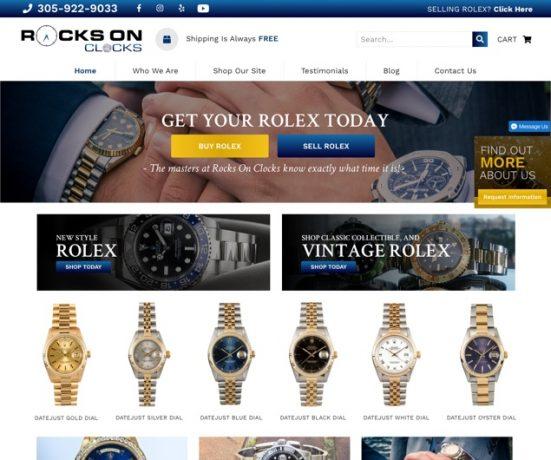 Rocks On Clocks Website