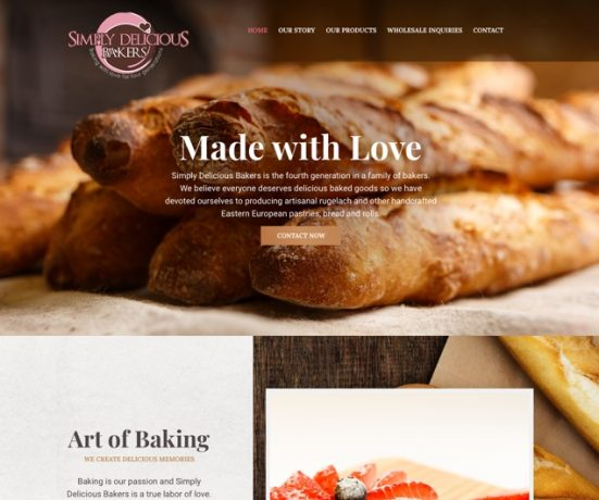Simply Delicious Bakers Website