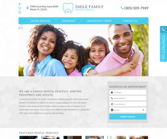 Smile Family Dental Group Web Design