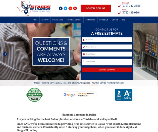 Staggs Plumbing Dallas
