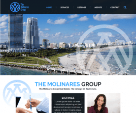 The Molinares Group Web Design