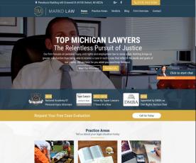 Ernst Marko Law: Law Firm Detroit Web Design