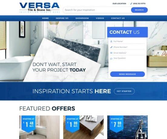 Versa Tile & Stone Inc  Web Design