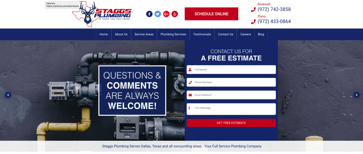 Staggs Plumbing Home Page