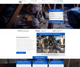 AOL Heating & Air Inc Web Design