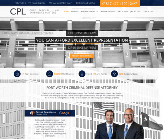 Cole Paschall Law Website
