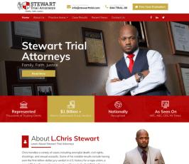 Stewart Trial Attorneys Web Design