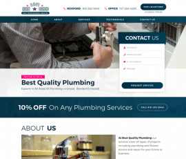 Best Quality Plumbing Web Design