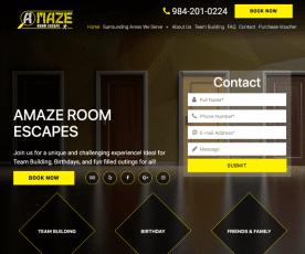 Raleigh Escape Room Web Design