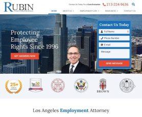 The Rubin Law Corporation Web Design